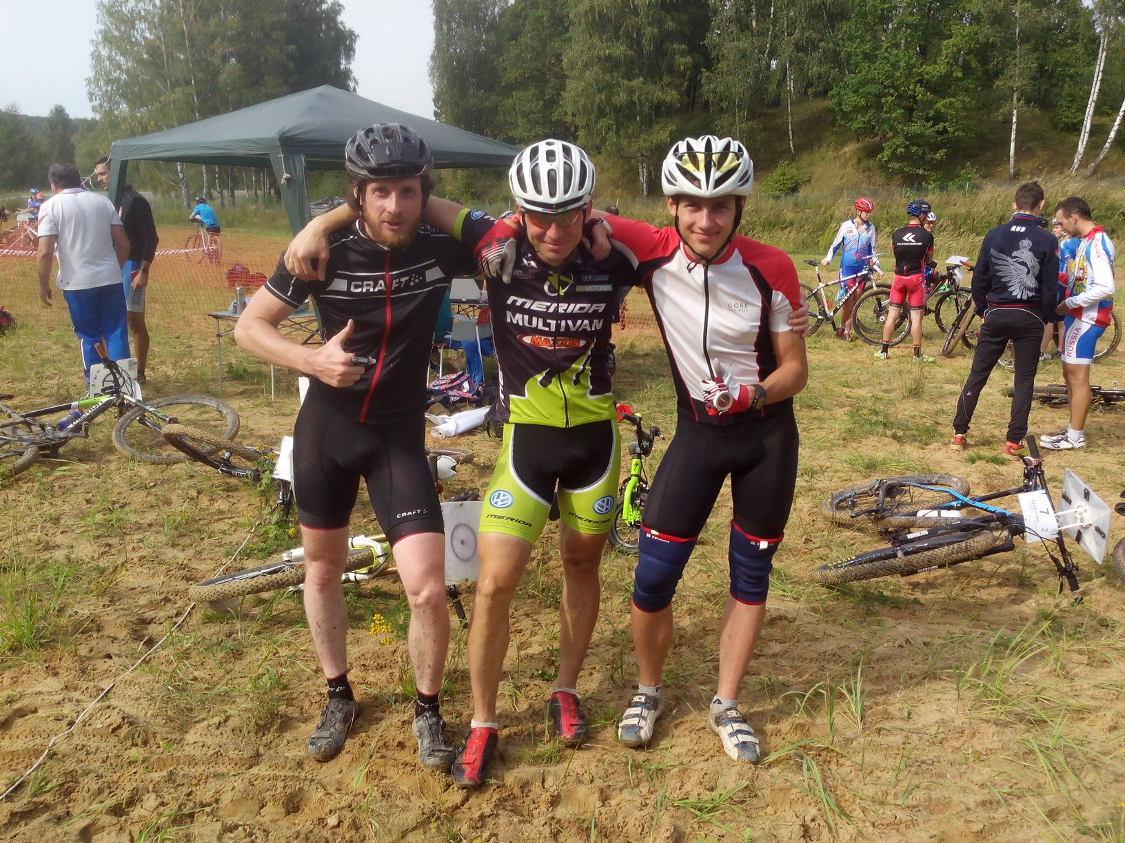 Победители эстафеты, вторая команда Москвы (Дима, Андрей, Юра)