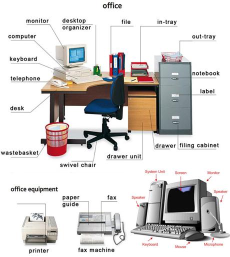 Английская лексика на тему: Офис