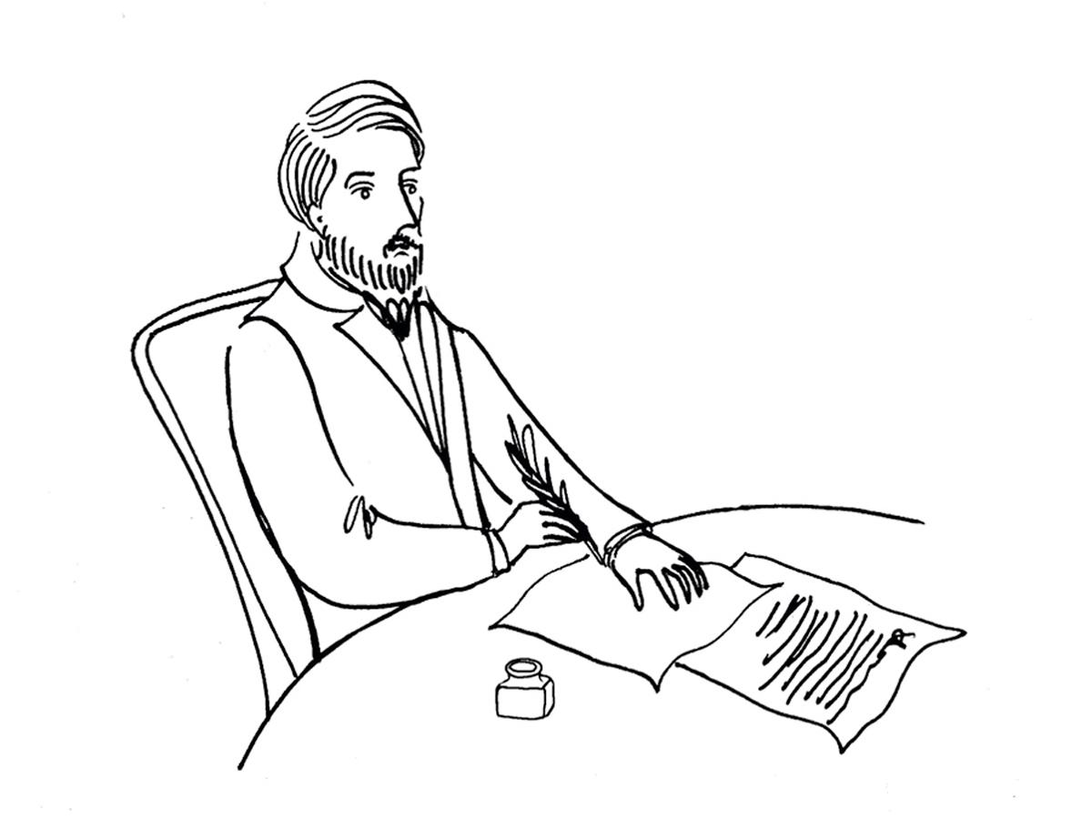 В. Г. Белинский (иллюстрация: Фома.ру)