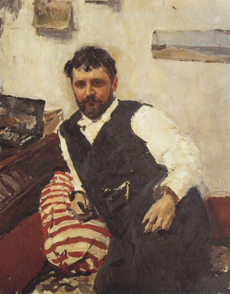 В. А. Серов «Портрет художника К. А. Коровина» (1891)