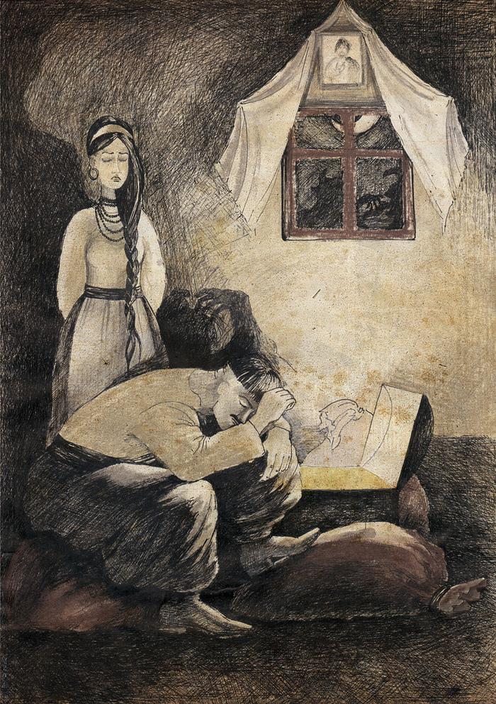 «Вечер накануне Ивана Купалы» (иллюстрация Виктории Самойленко)