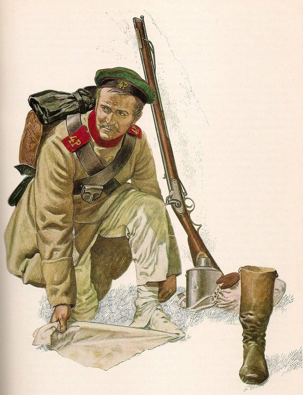Русский солдат периода Крымской войны