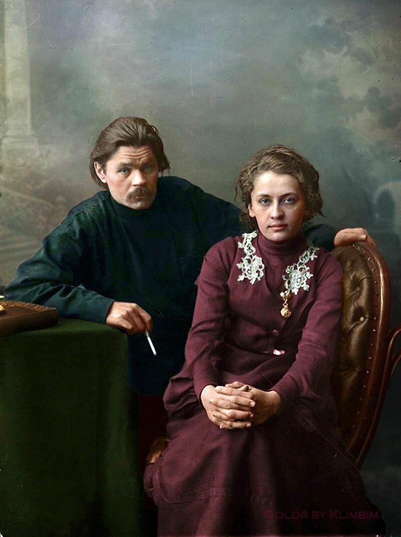 Максим Горький с женой Екатериной Волжиной (Пешковой)
