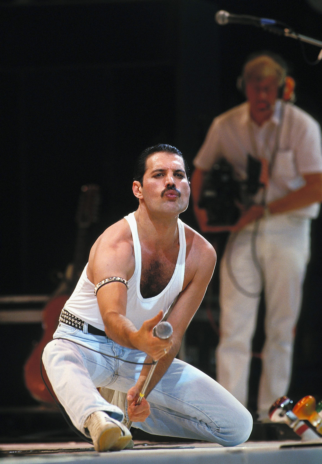 Mercury was in peak form at the show. (Georges De Keerle/Getty Images)
