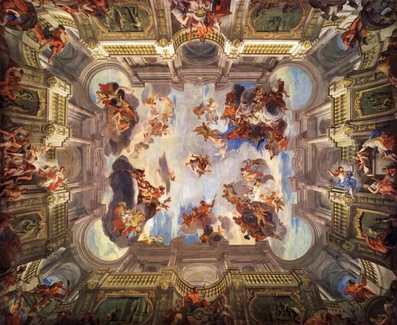 Андреа дель Поццо «Деяния Геркулеса и его апофеоз» (1704 — 1708).