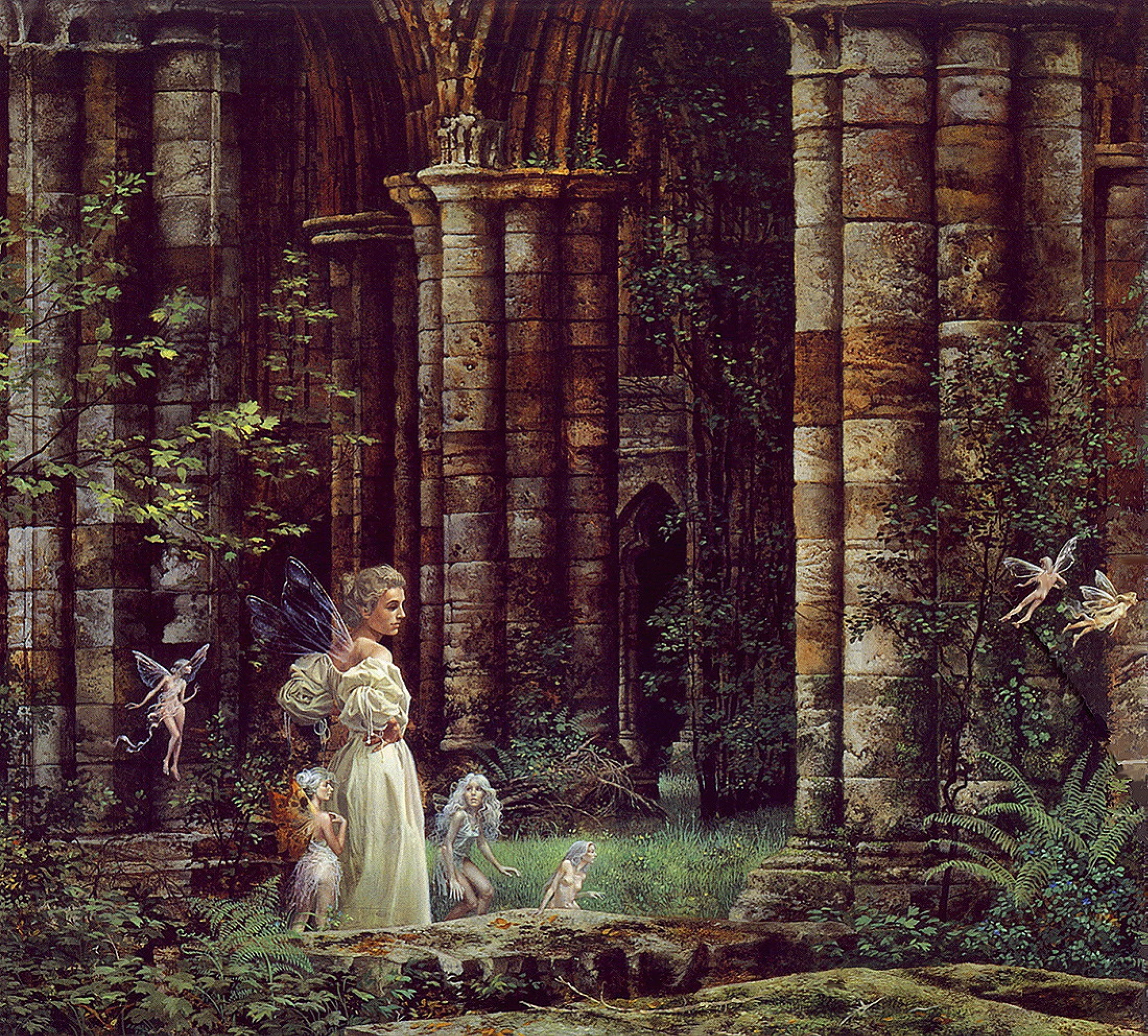 Джеймс Кристенсен «Королева у руин»