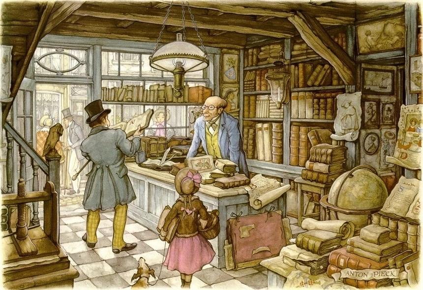 Антон Пик «Продавец антикварных книг» (1960-е)