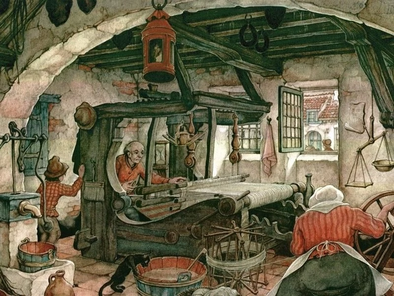Антон Пик «Мастера и подмастерья. Ткач» (1950-е)