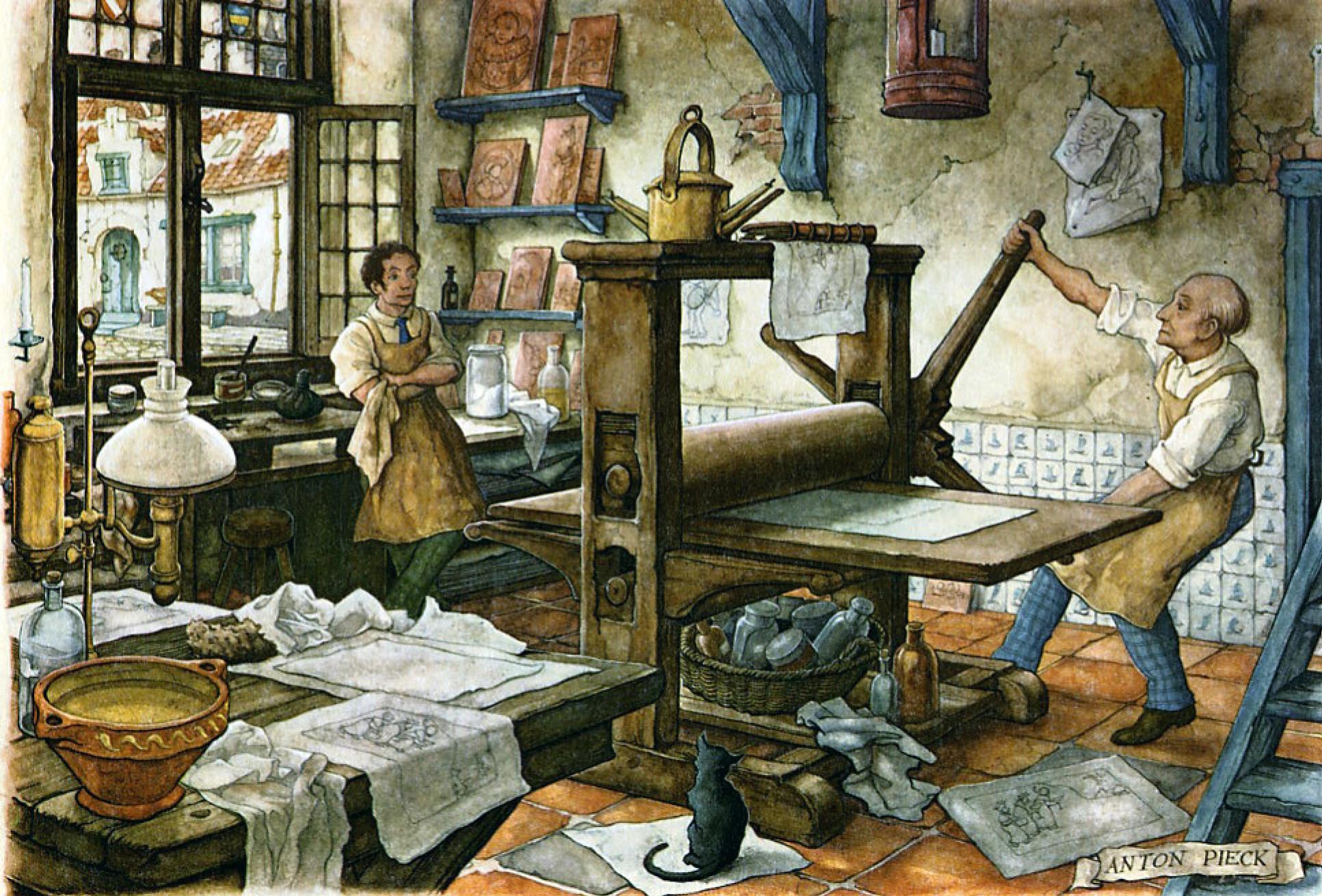 Антон Пик «В типографии» (1960-е)