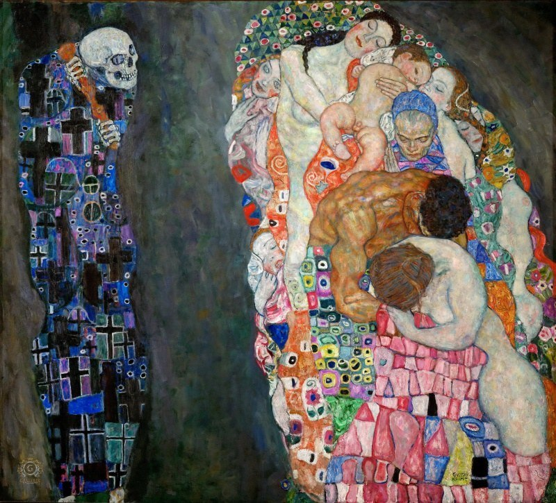 Густав Климт «Смерть и Жизнь» (1908 — 1916)