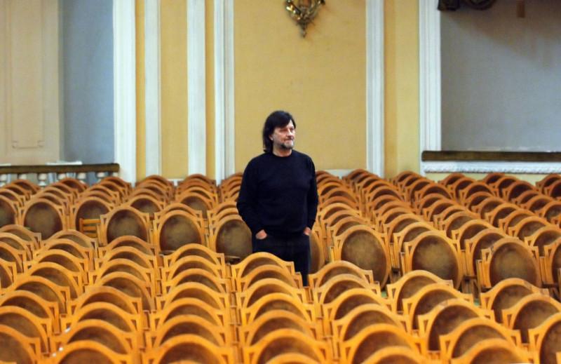Алексей Рыбников в Большом зале консерватории, 2005 год (фото: Федор Савинцев)