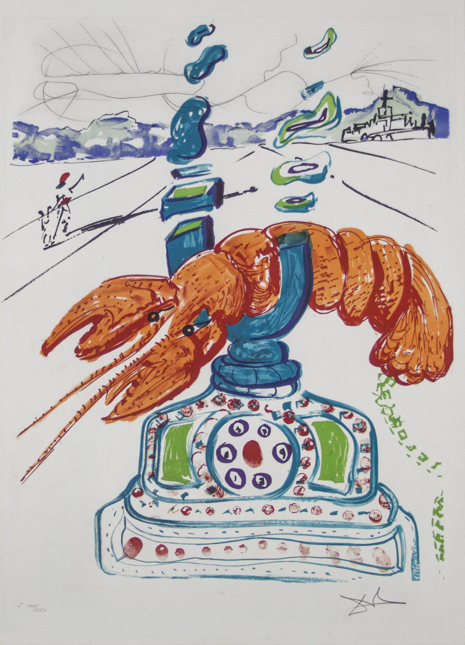 Репринт 1975 года с автографом Дали