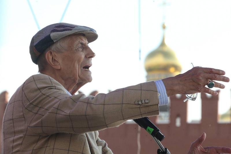 На открытии книжного фестиваля «Красная площадь», 2016 год