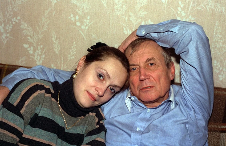 Евгений Евтушенко с женой Марией