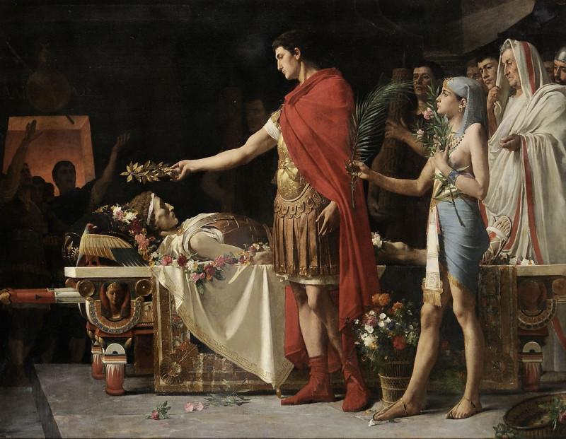 Лайонел Руайе «Антоний и Клеопатра чествуют Цезаря» (1878).