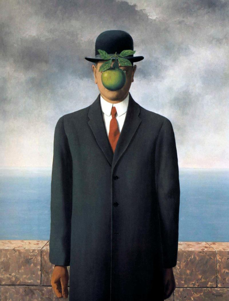 Рене Магритт «Сын человеческий» (1964)