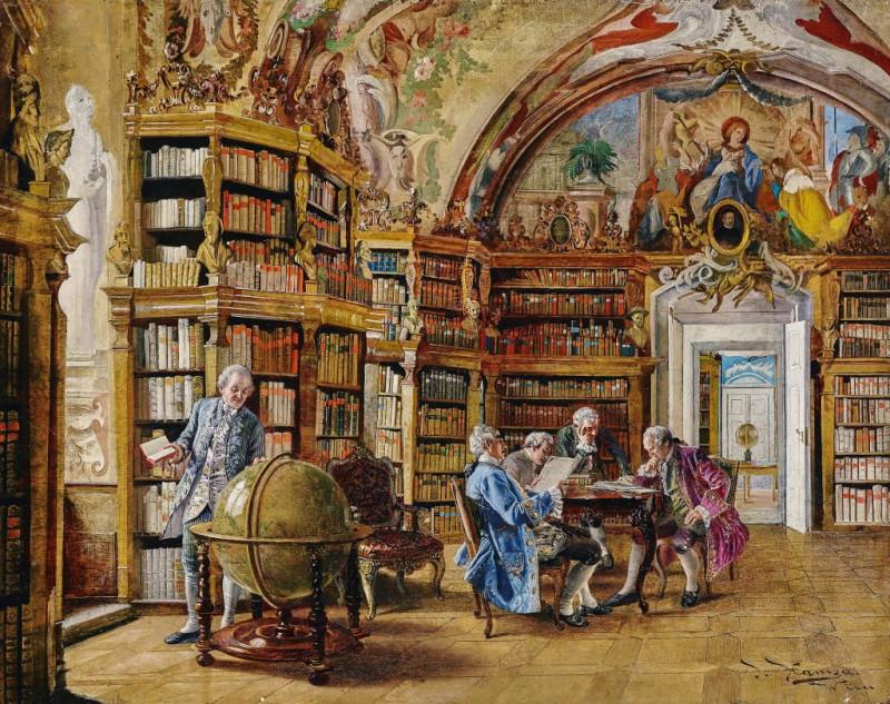 Иоганн Хамза «В библиотеке»