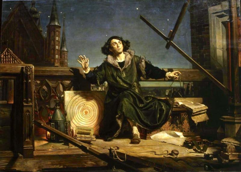 Ян Матейко «Коперник. Беседа с Богом» (1873)