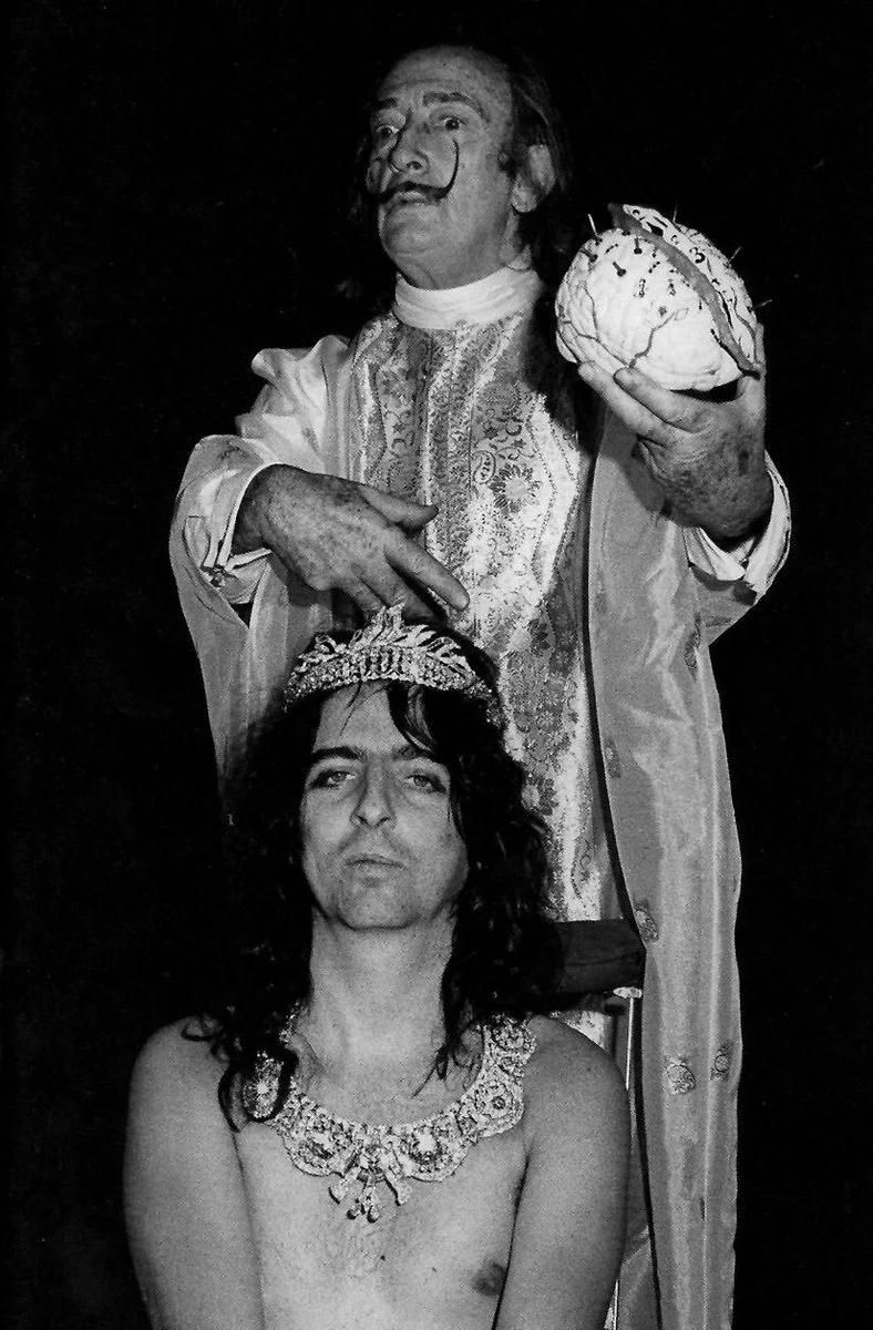Элис Купер и Сальвадор Дали, Нью-Йорк, 1973 (photo © Bob Gruen)