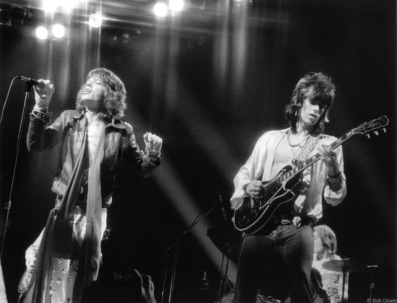 Мик Джаггер и Кит Ричардс, Нью-Йорк, 1972 (photo © Bob Gruen)
