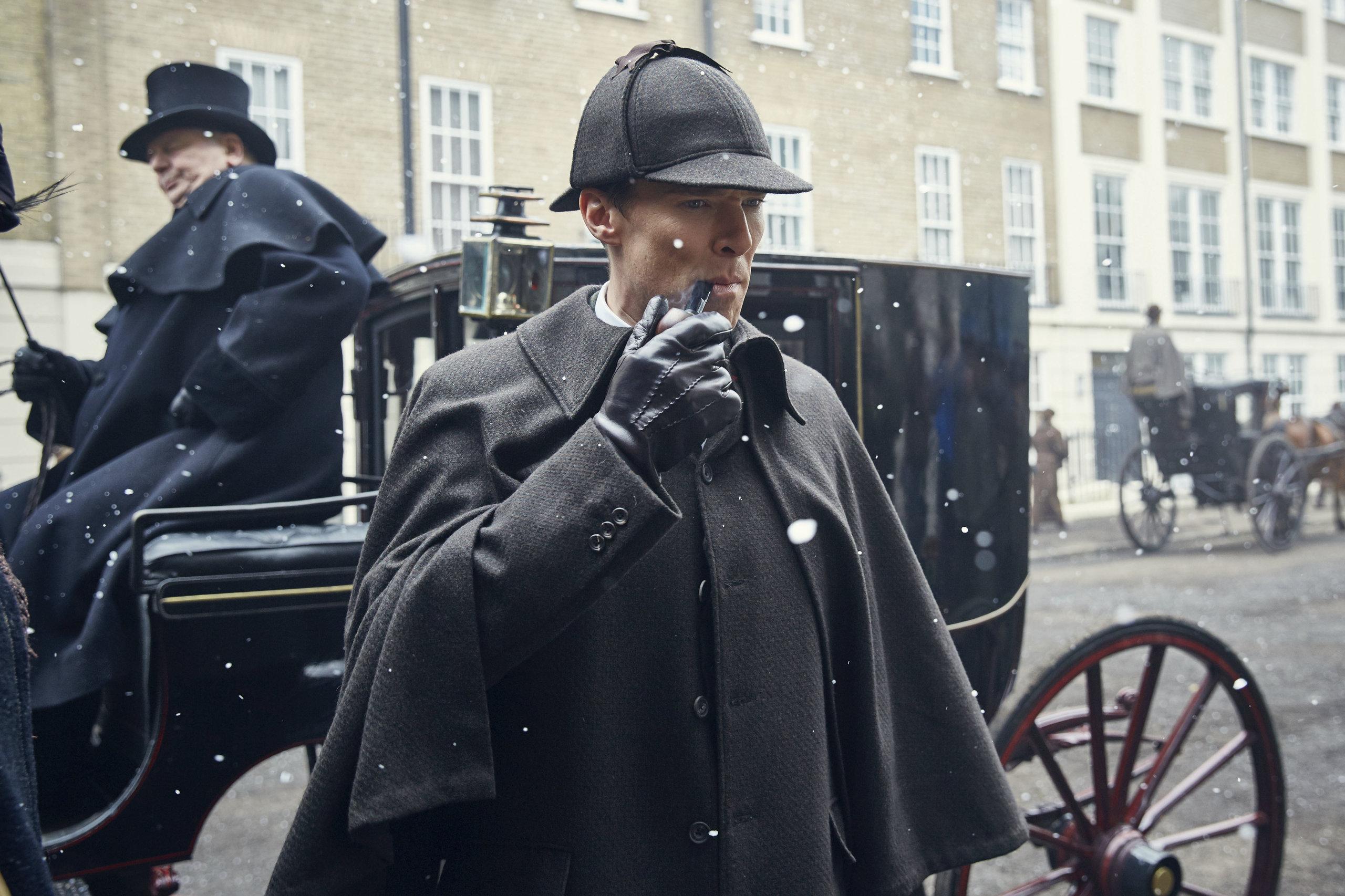 Кадр из спецвыпуска сериала «Шерлок» («Безобразная невеста», 2016)