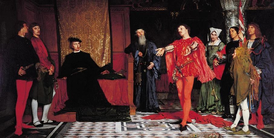 Владислав Чахурский «Актеры перед Гамлетом (1875)