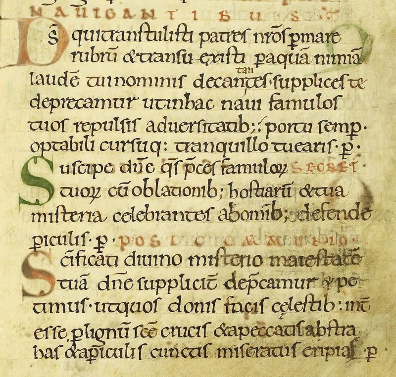 Полуунциальное англосаксонское письмо, близкое по начертанию каролингскому минускульному шрифту (Image copyright the Dean and Chapter of Worcester Cathedral)
