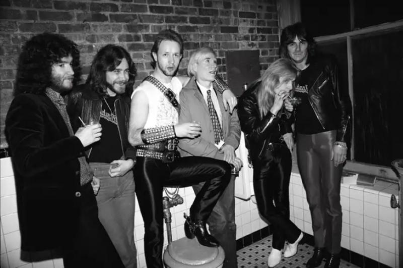 Энди Уорхол и Judas Priest, Техас, 1981 (photo © Steve Joester)