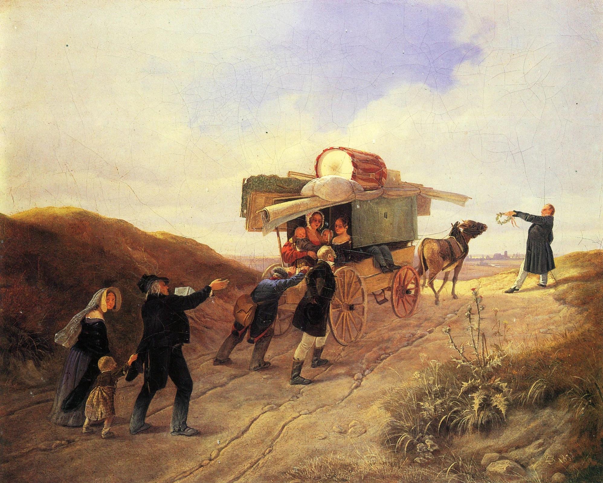 Карл Шпицвег «Странствующие комедианты» (1839)