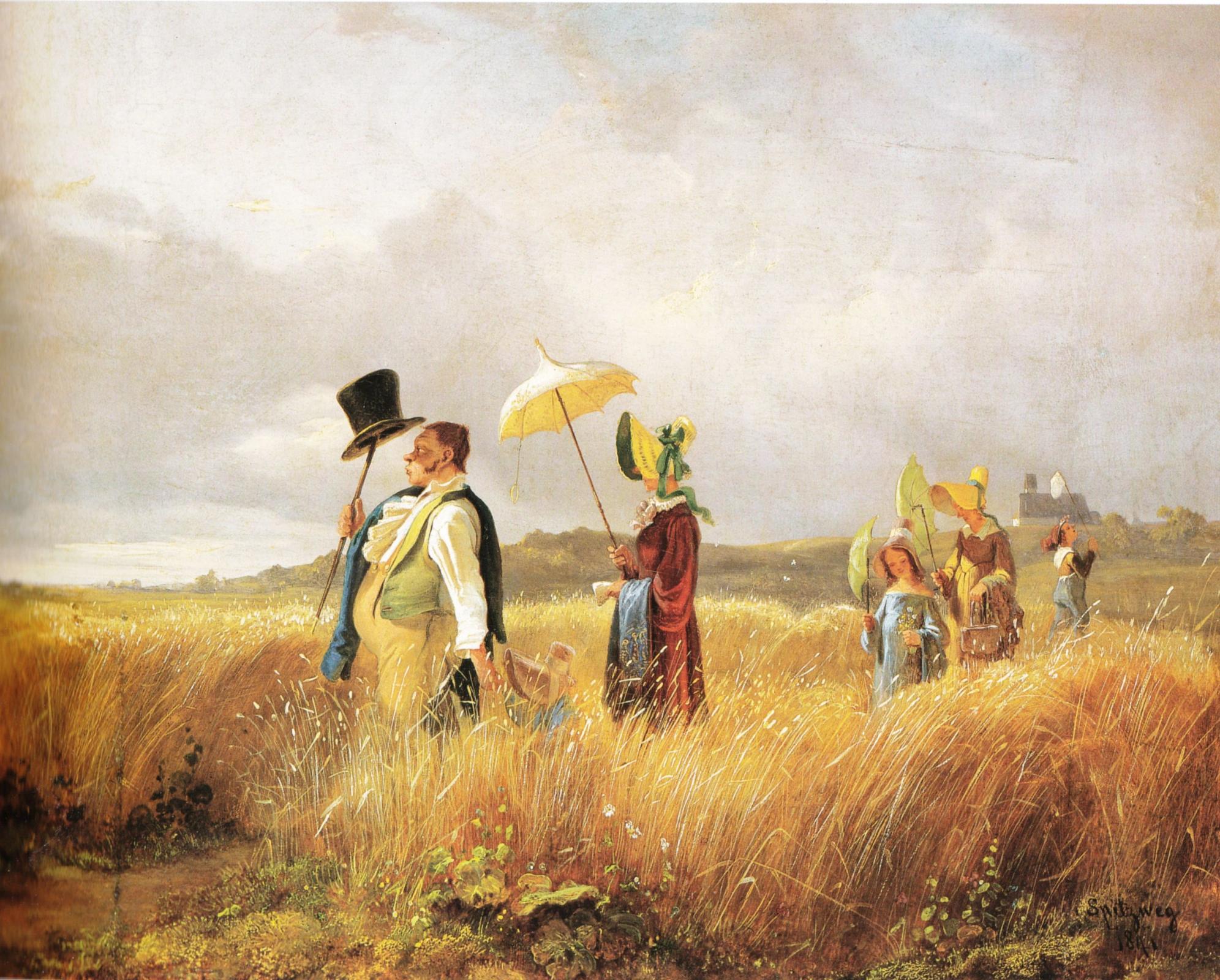 Карл Шпицвег «Воскресная прогулка» (1841)