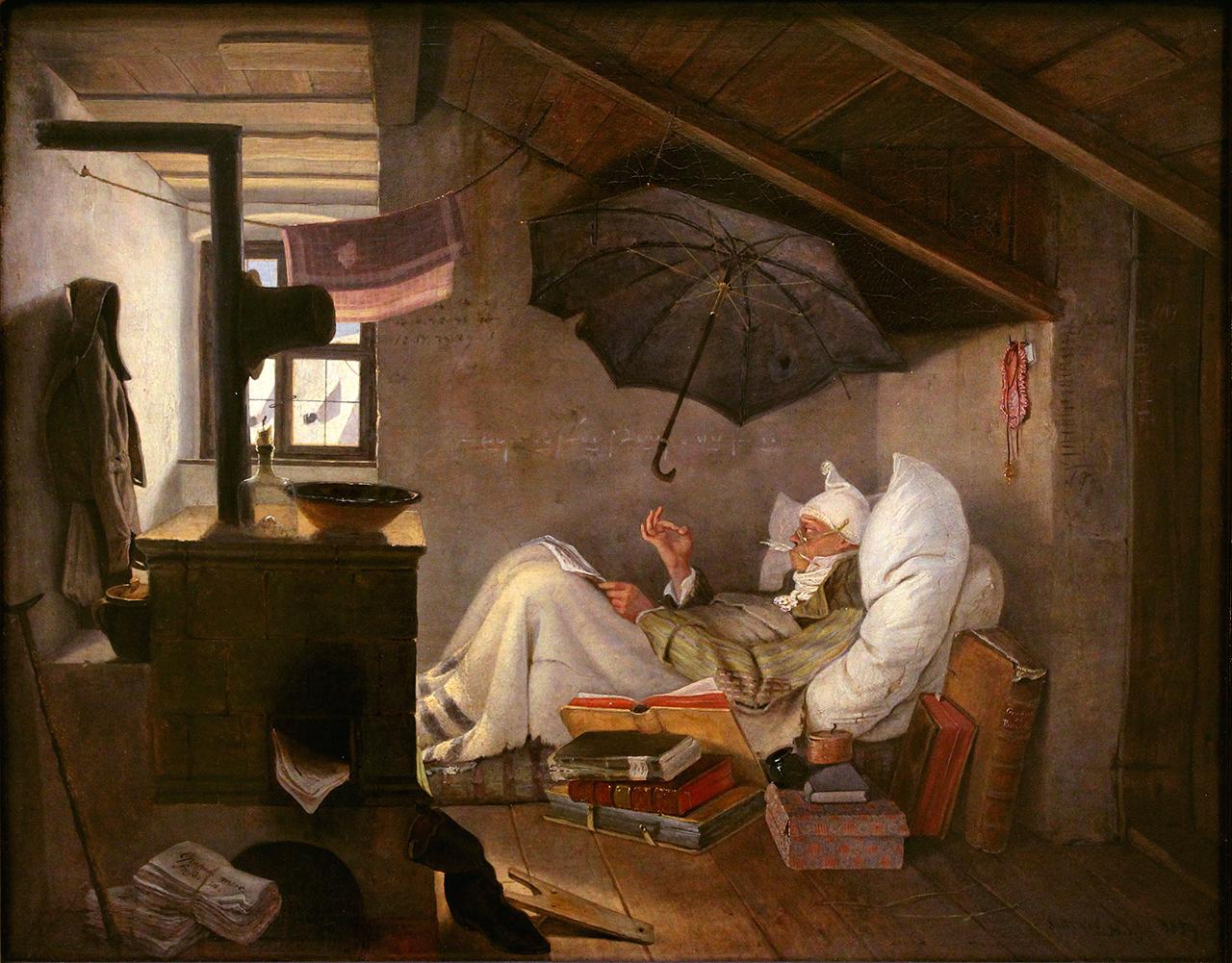 Карл Шпицвег «Бедный поэт» (1839)