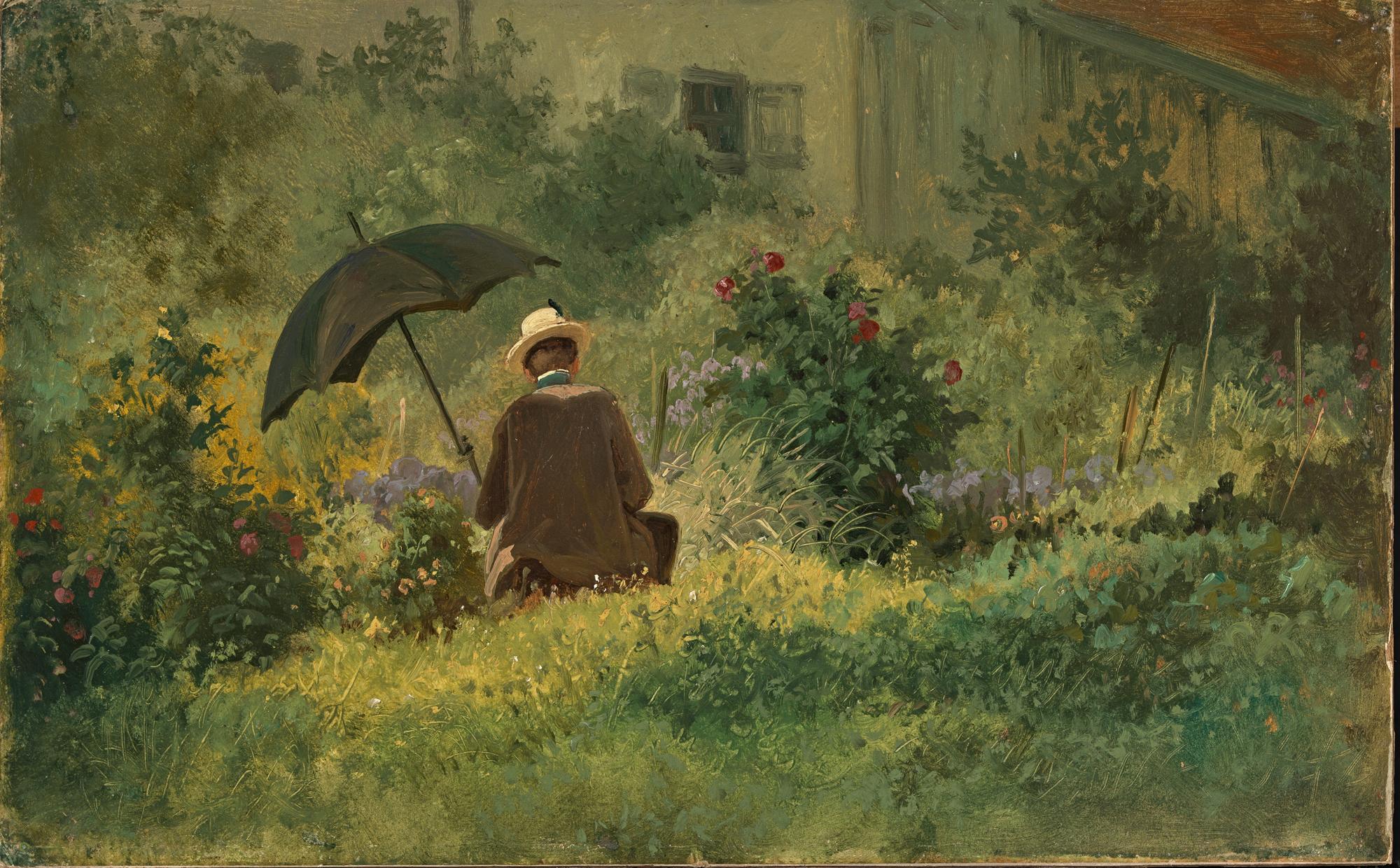 Карл Шпицвег «Художник в саду» (1860-е)