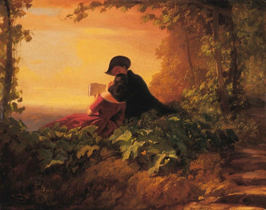 Карл Шпицвег «Полуночное свидание» (1850-е)
