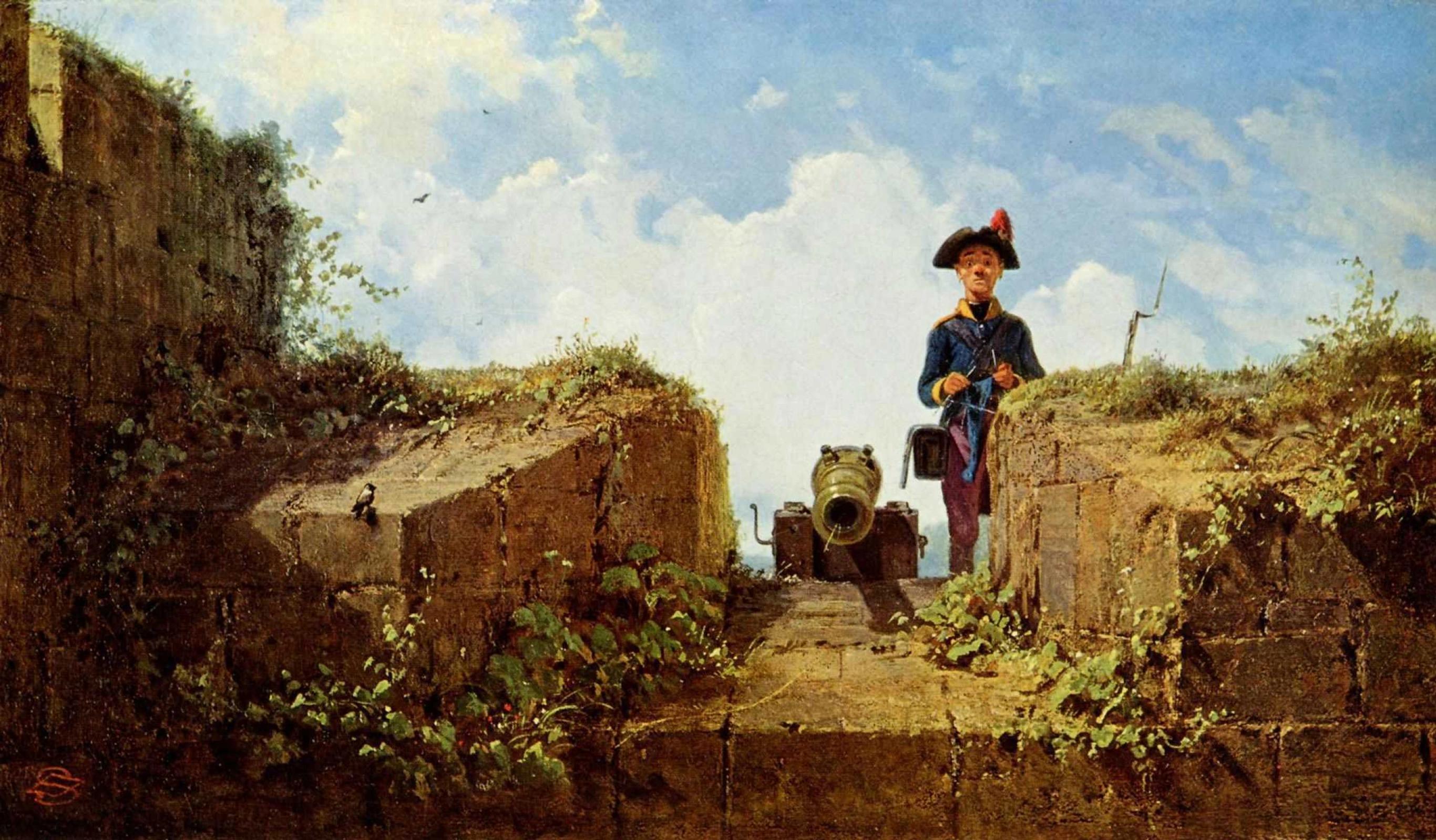 Карл Шпицвег «Дозорный-вязальщик» (1860)