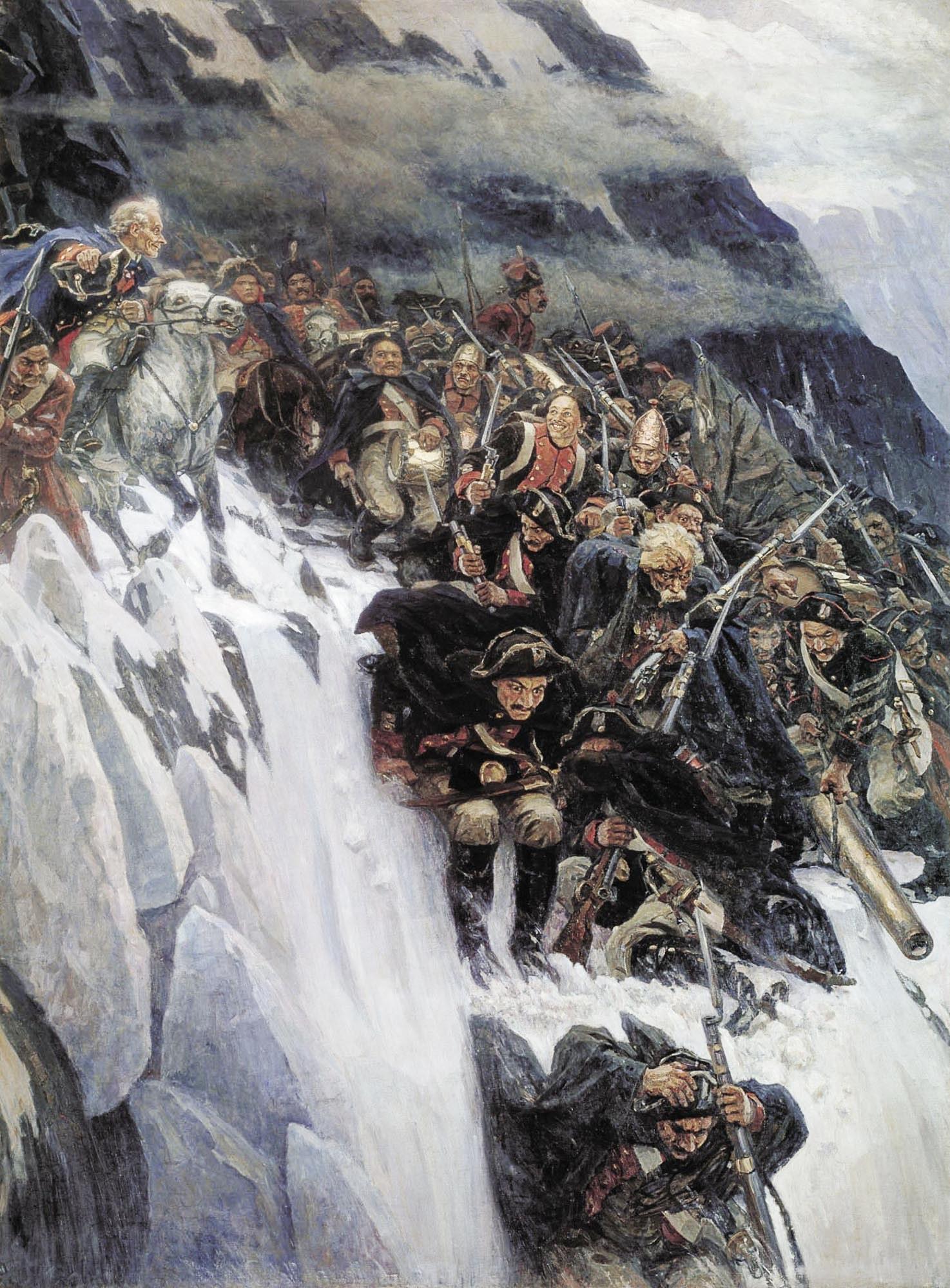 Василий Суриков «Переход Суворова через Альпы» (1899)
