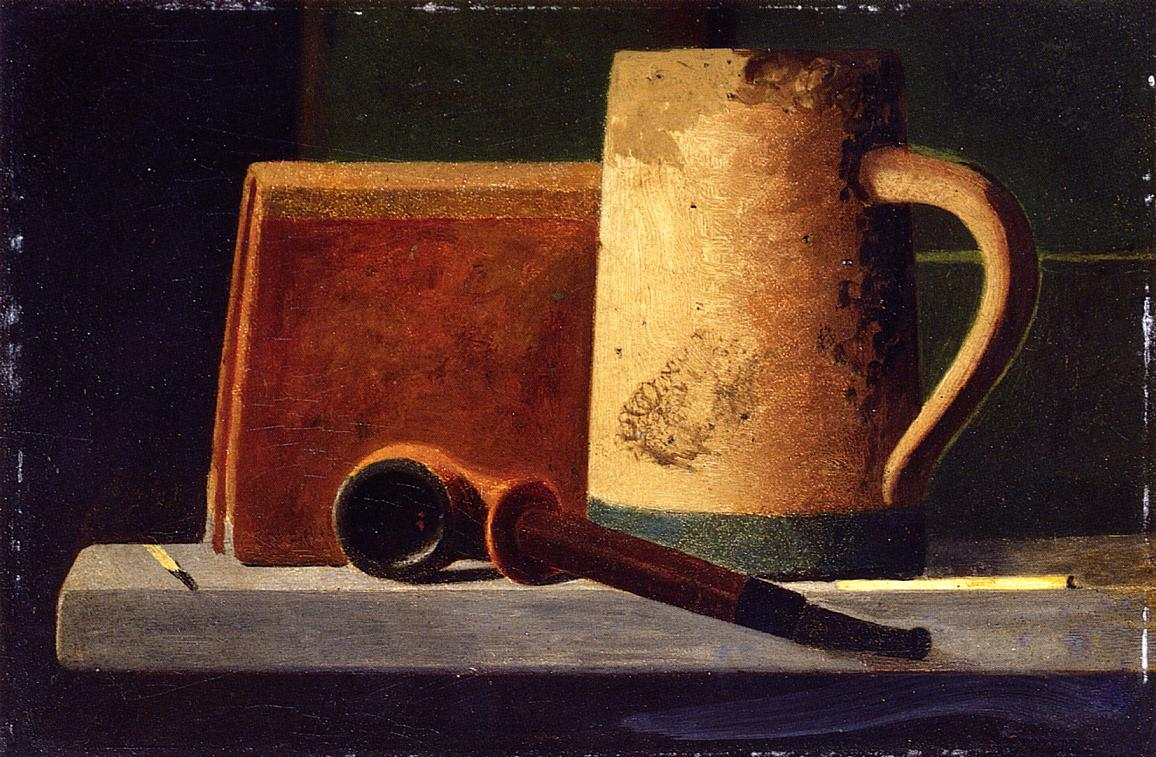 Джон Фредерик Пето «Кружка, трубка и книга на подоконнике»