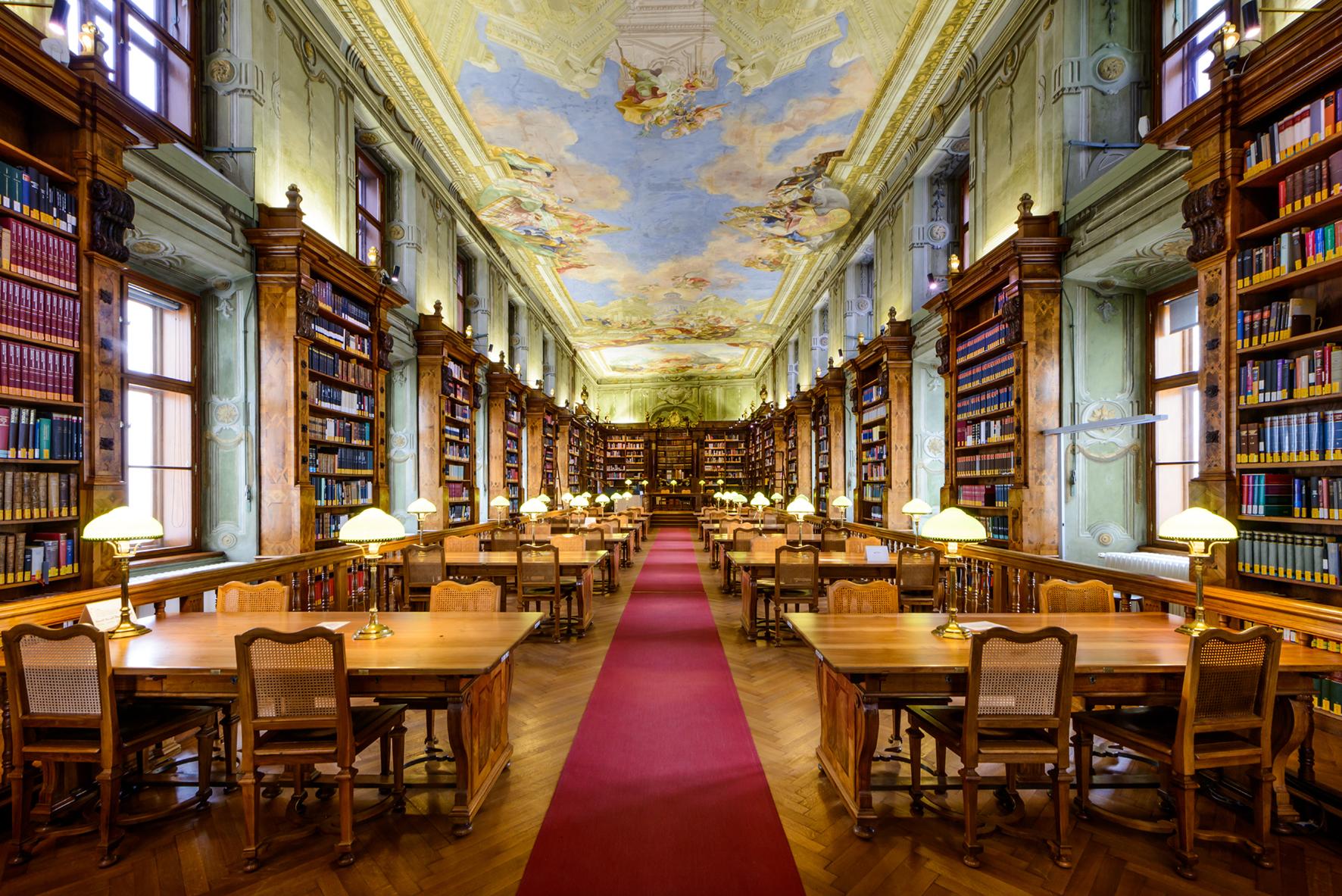Императорский читальный зал (Фото с сайта Австрийской национальной библиотеки: onb.ac.at)