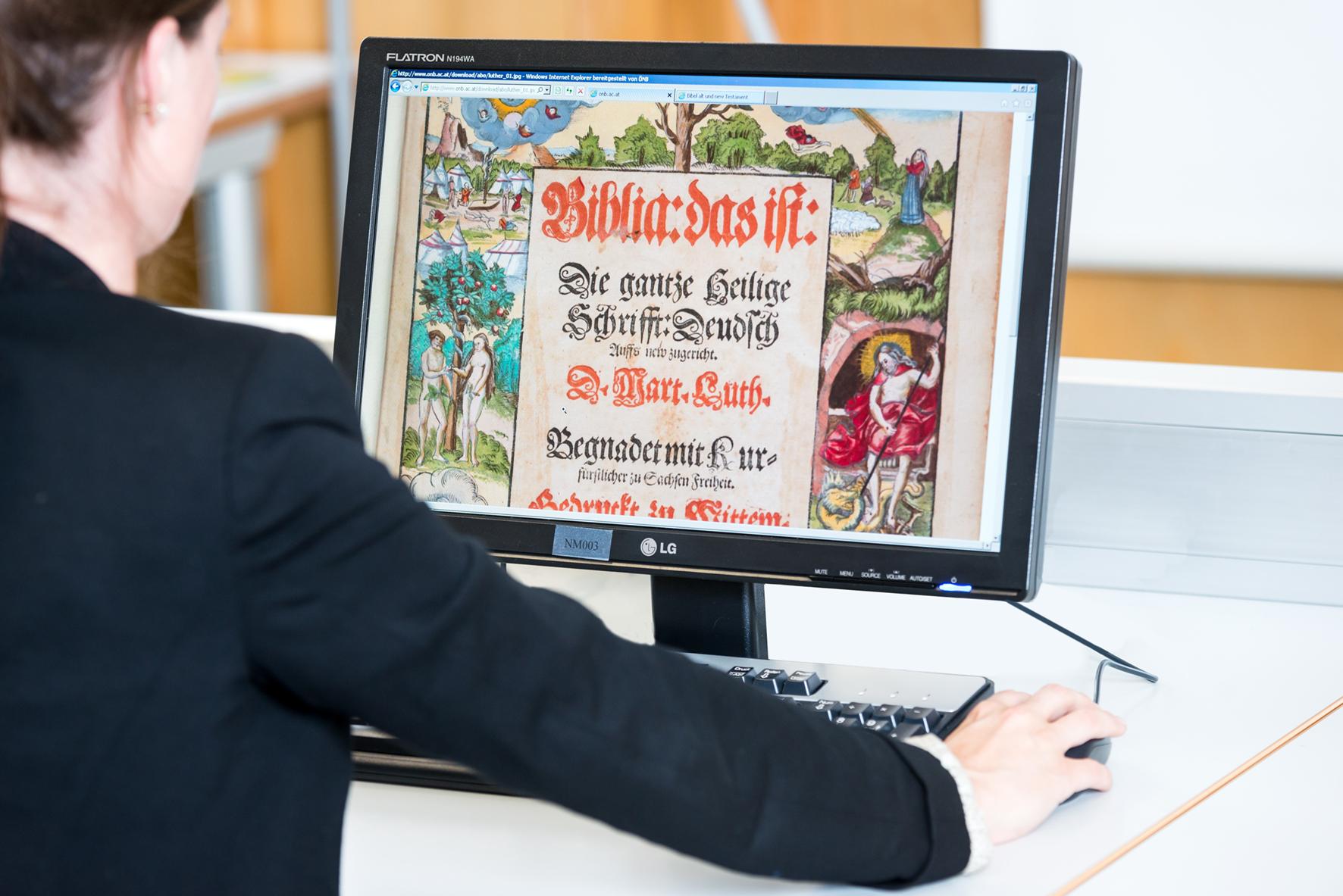 Фото с сайта Австрийской национальной библиотеки: onb.ac.at