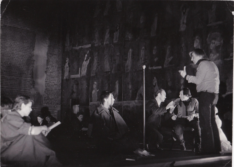 На репетиции спектакля «Борис Годунов» (1982)