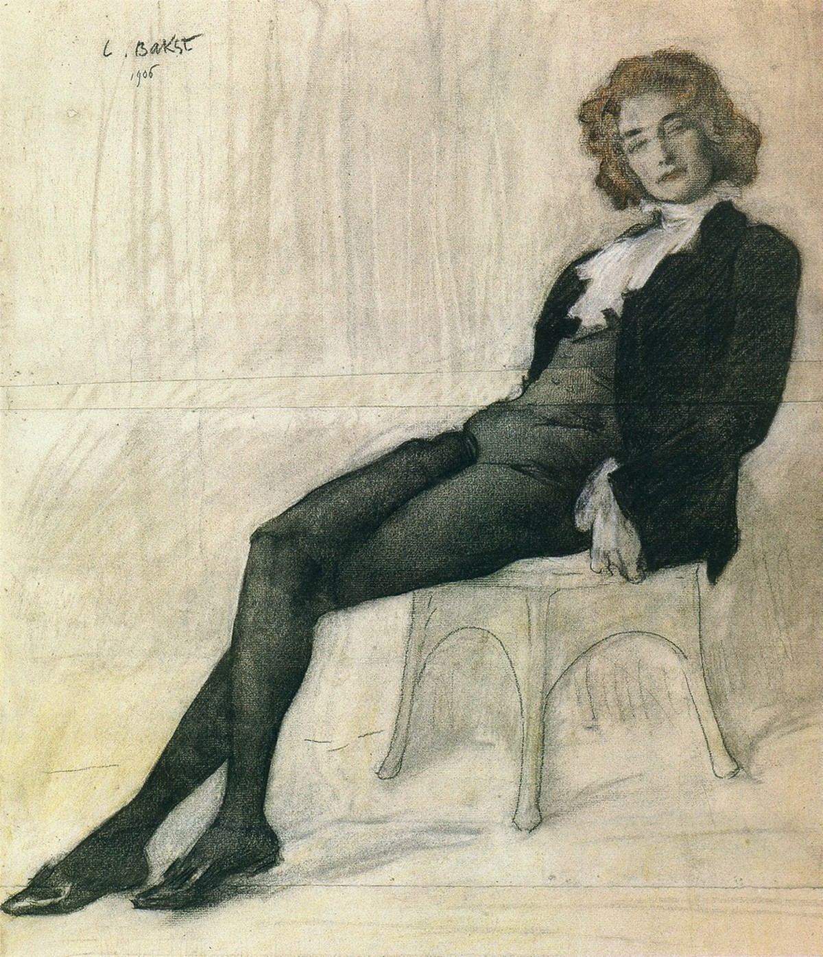 Лев Бакст «Зинаида Гиппиус» (1905)