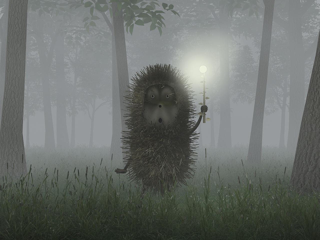 Кадр из мультфильма «Ёжик в тумане» (реж. Ю. Норштейн, 1975)