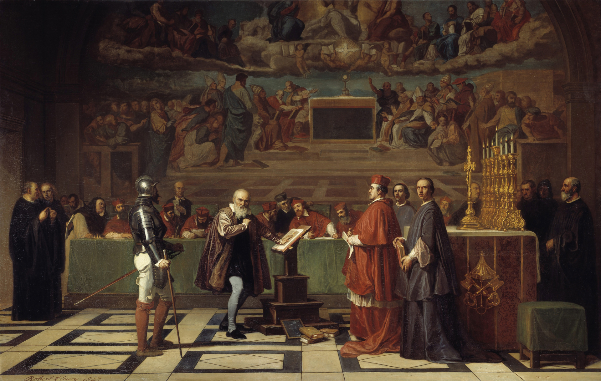 Жозеф-Николя Робер-Флери «Галилей перед судом инквизиции» (1847, Лувр, Париж)