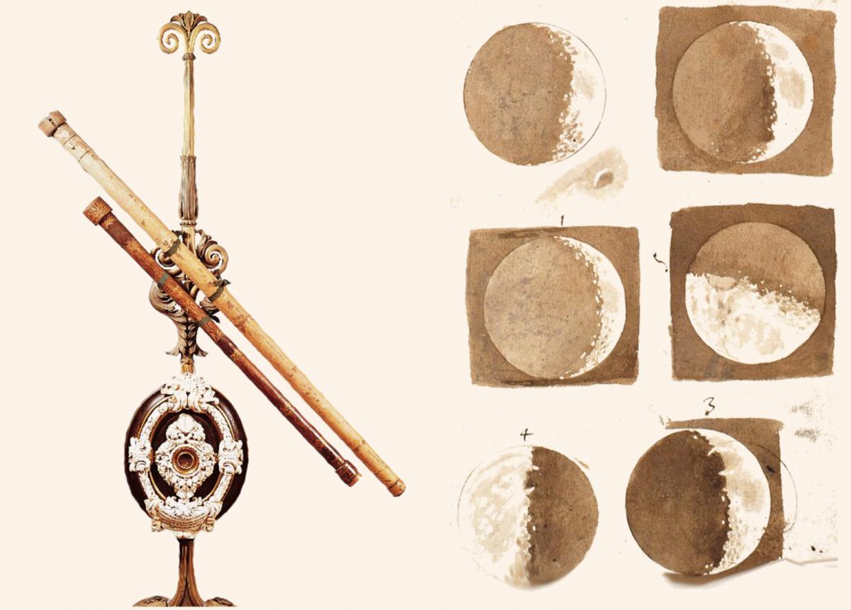 Первая карта Луны и первый телескоп