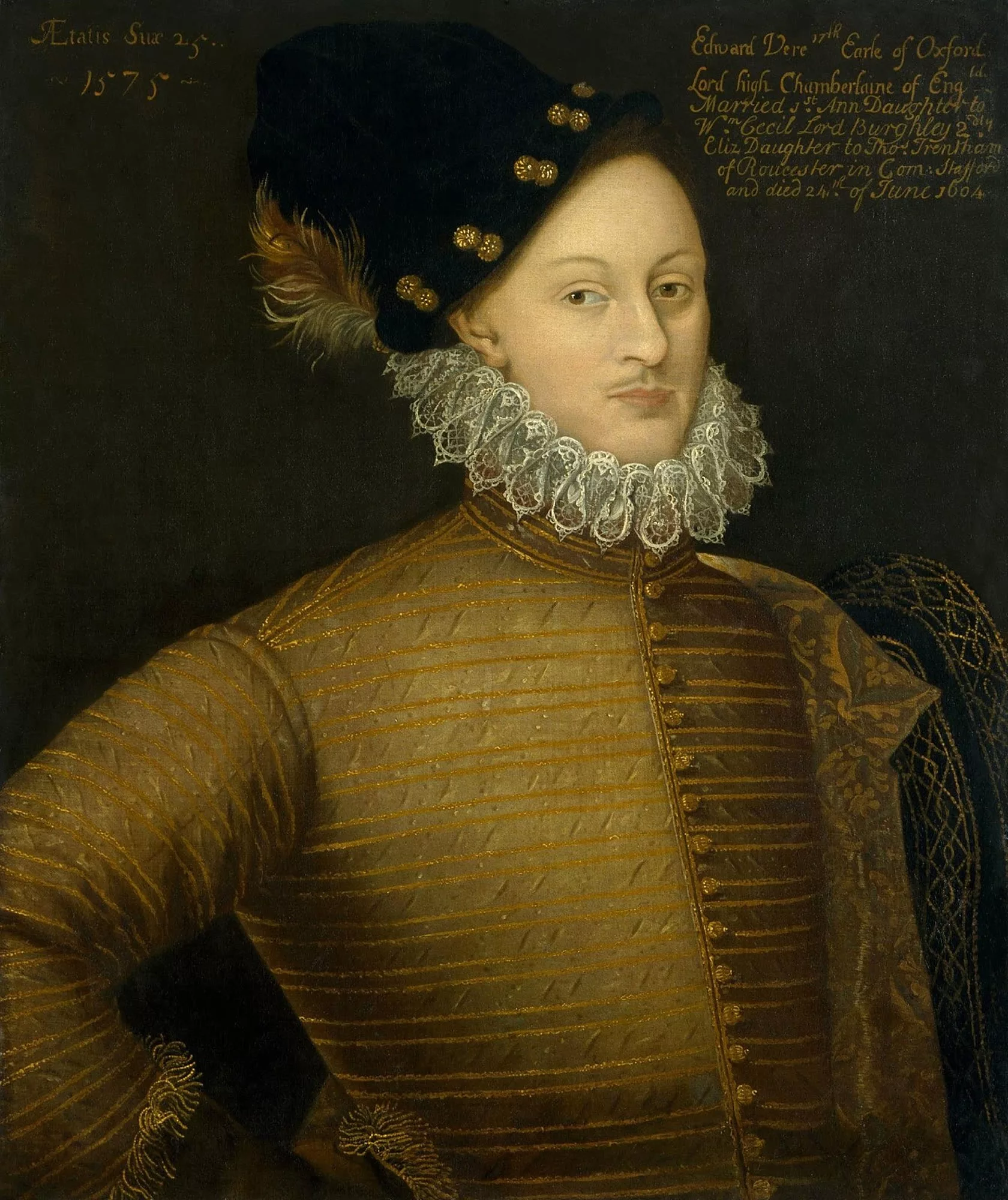 Эдуард де Вер, 17-й граф Оксфорд (1550 — 1604),один из предполагаемых «Шекспиров»