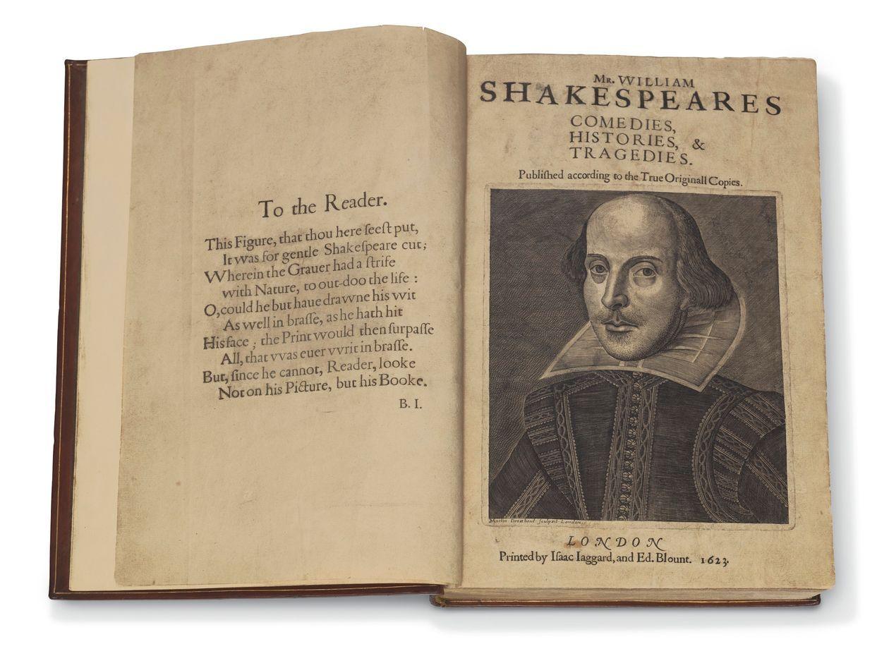 Первое настоящее фолио Шекспира (1623)