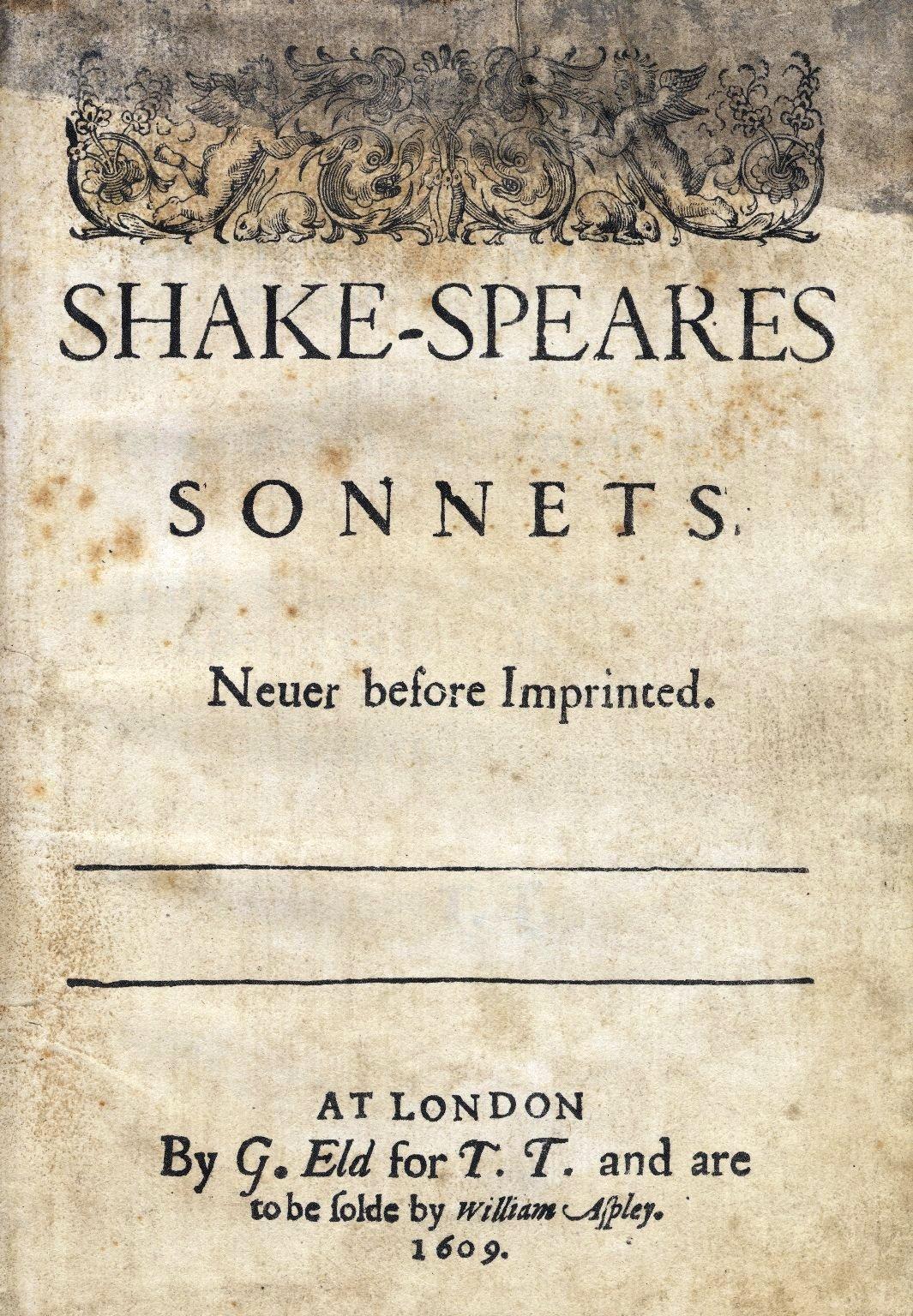 Титульный лист первого издания «Сонетов» (1609)