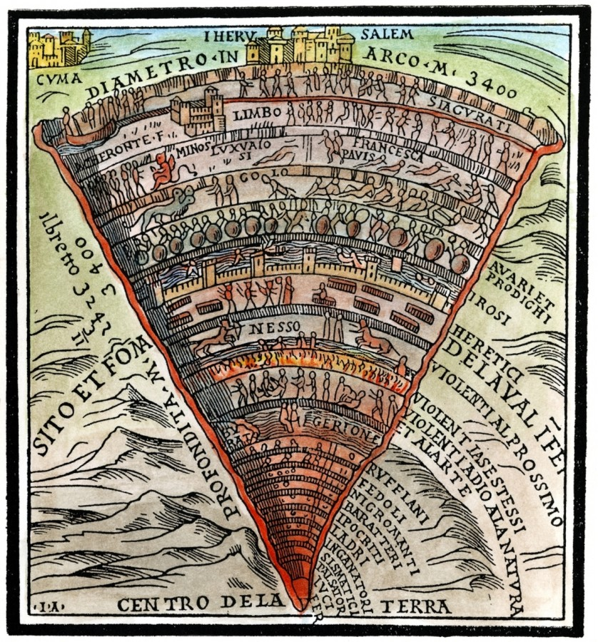 Dante's Inferno, C1520. /Nwoodcut From A Venetian Edition Of The Divine Comedy, C1520.