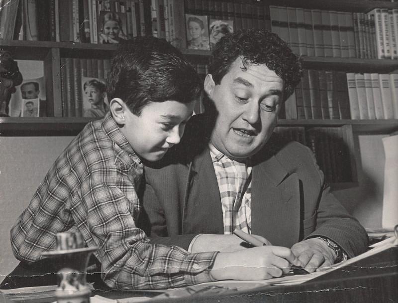 Виктор Драгунский с сыном Денисом