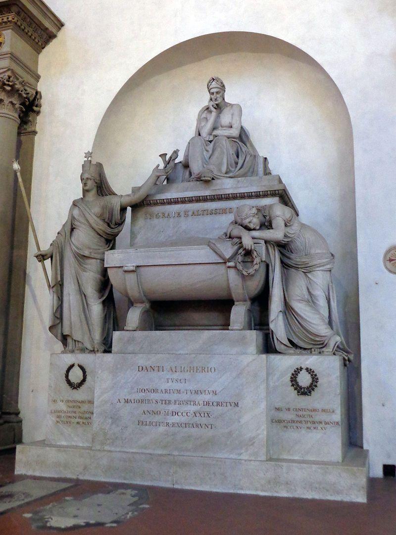 Кенотаф Данте в базилике Санта-Кроче, Флоренция