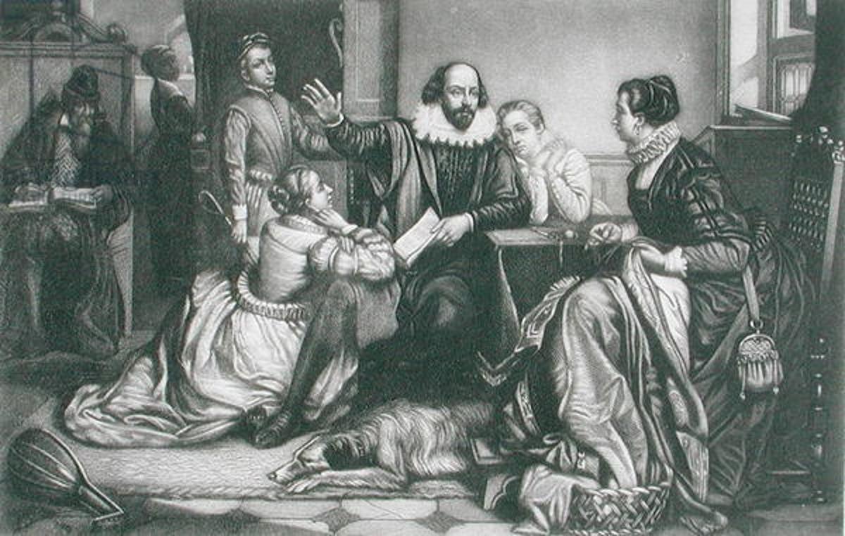 Эдуар Жан Конрад Хамман «Шекспир читает своей семье в Стратфорде трагедию «Гамлет»